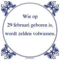 Algemeen-Wie op29 februari geboren is