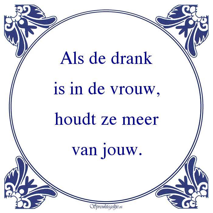 Drank-Als de drankis in de vrouw