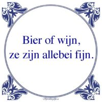 Drank-Bier of wijn