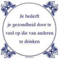 Drank-Je bederftje gezondheid door teveel op die van anderente drinken