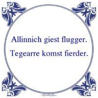 Friestalig-Allinnich giest flugger.Tegearre komst fierder.