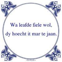 Friestalig-Wa leafde fiele wol