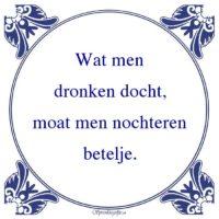 Friestalig-Wat mendronken docht