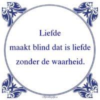 Relatie-Liefdemaakt blind dat is liefdezonder de waarheid.