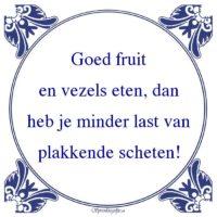 W.C.-Goed fruiten vezels eten