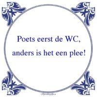 W.C.-Poets eerst de WC