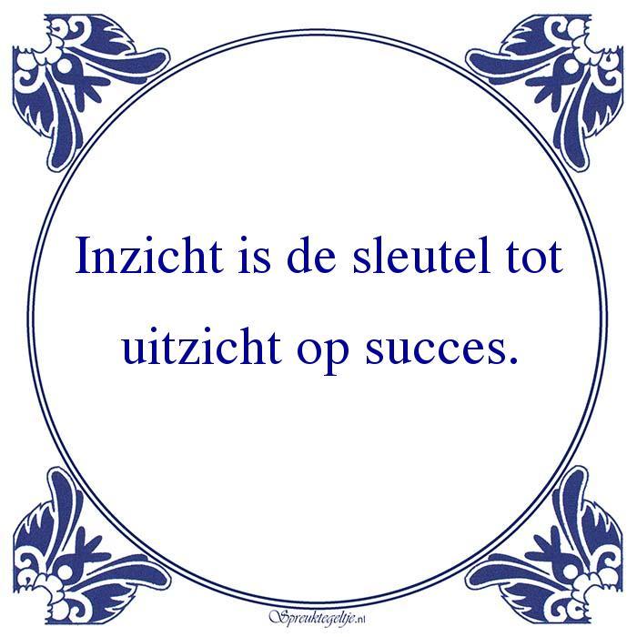 spreuken sleutel Inzicht is de sleutel tot uitzicht op succes. — Spreuktegeltje spreuken sleutel